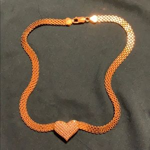 Sterling silver/yellow gold plated necklace